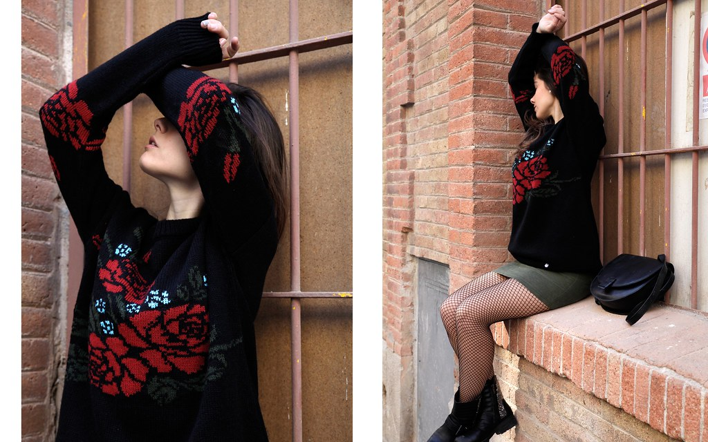 010_Flowers_sweater_streetstyle_barcelona_with_RÜGA