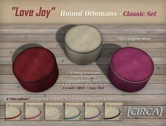 "@ SaNaRae ~ [CIRCA] - ""Love Joy"" - Round Ottomans - Classic Set"
