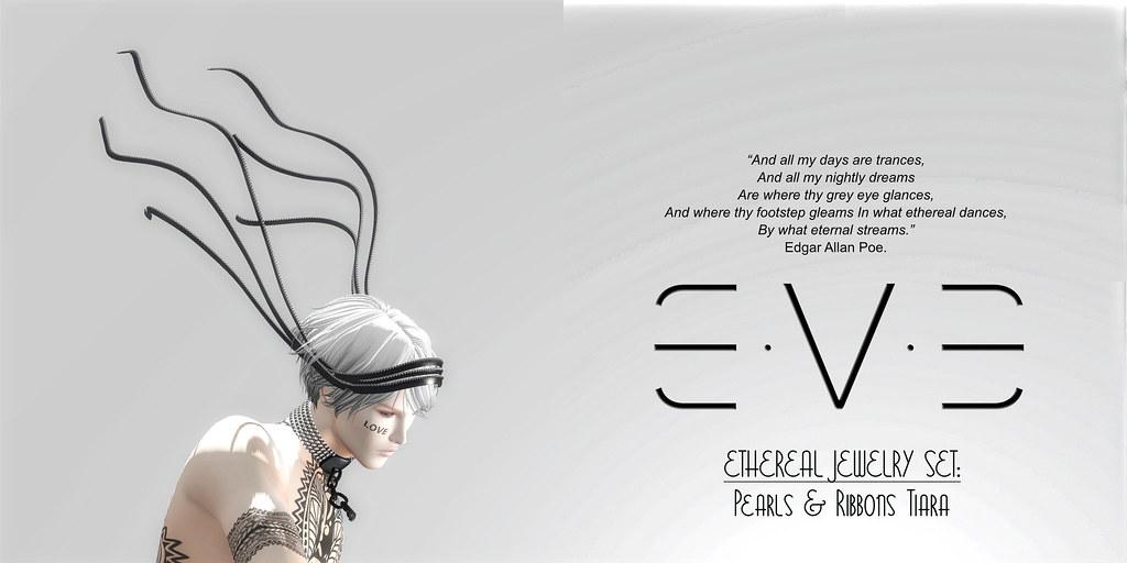 E.V.E ETHEREAL Pearls and Ribbons Tiara - SecondLifeHub.com