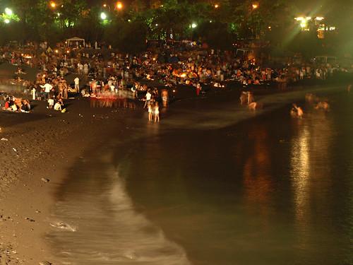 Midnight, Noche de San Juan, Puerto de la Cruz, Tenerife