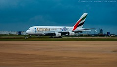 Emirates Airlines Airbus A380 at Dallas Fort-Worth Airport DFW