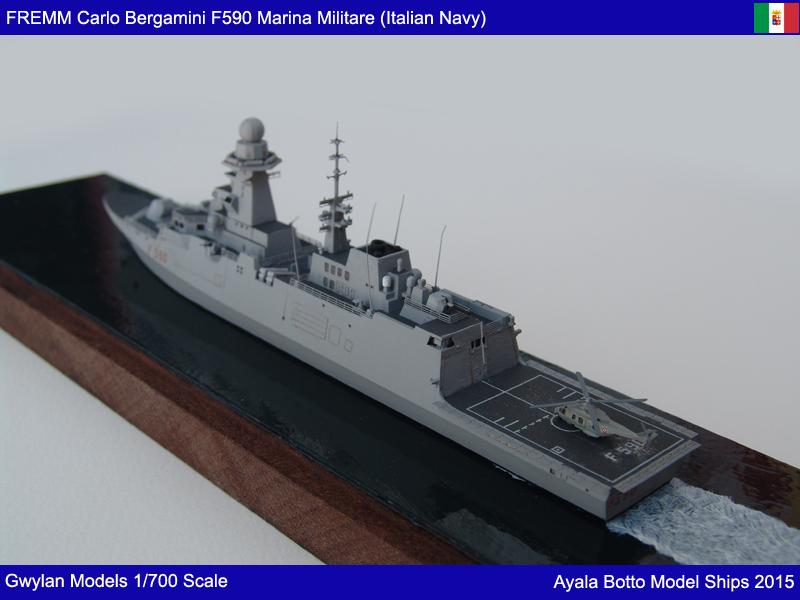 FREMM Carlo Bergamini F590 Frégate - Gwylan Models 1/700 19155704733_a615a667a8_o