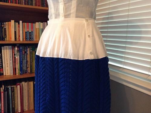 1892 Knitted Petticoat Yoke