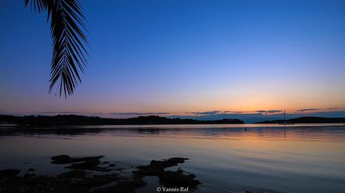 sea sky beach port canon landscape coast harbor seaside purple wideangle calm greece shore palmtree almostsunset 10mm landscapephotography portoheli eos700d