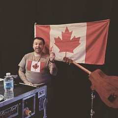 Zach's Instagram: Happy Canada day! To all our northern friends. From Shinedown and Eric's Bass Tech .... hoogieontheroad #StageRightCrew
