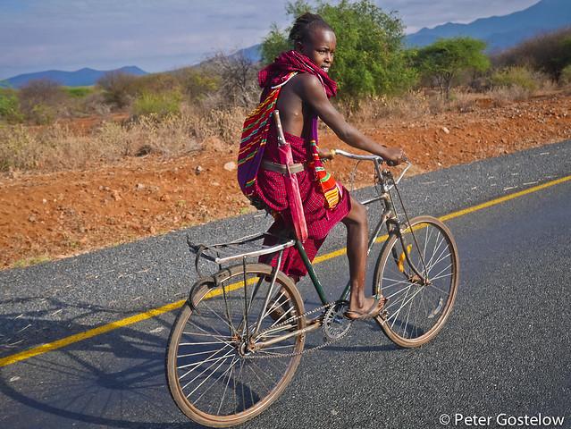 Masaai cyclist