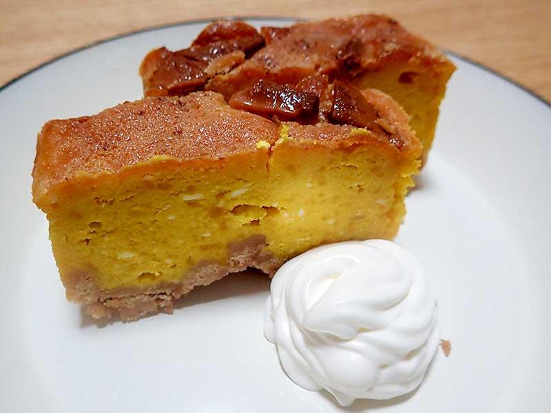 パンプキンチーズケーキ