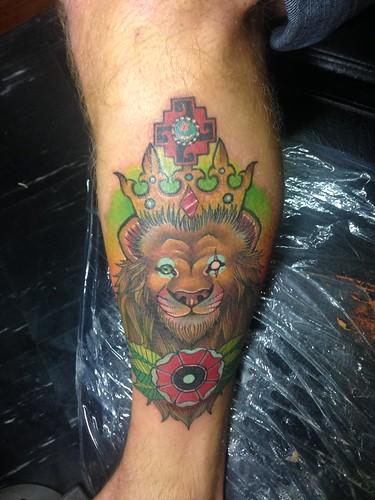 Tattooed at Willka Tattoo.  Cusco, Peru.
