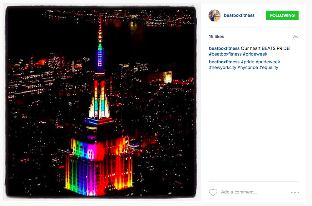 NYC gay pride marriage equality empire state building