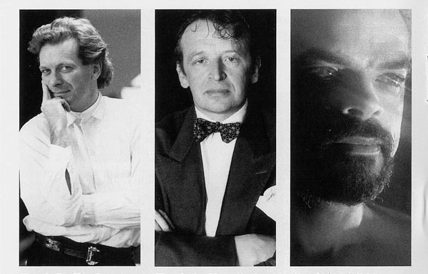 Слева направо: Тони Уилсон, Брюс Митчелл, Алан Эразмус