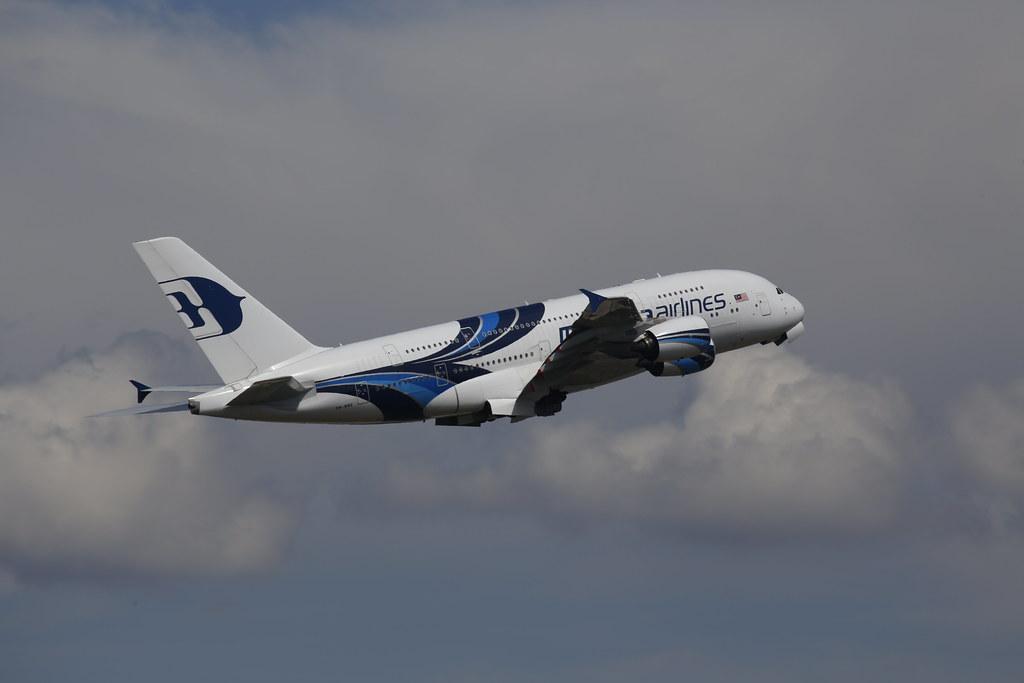 Malaysia A380 in Heathrow