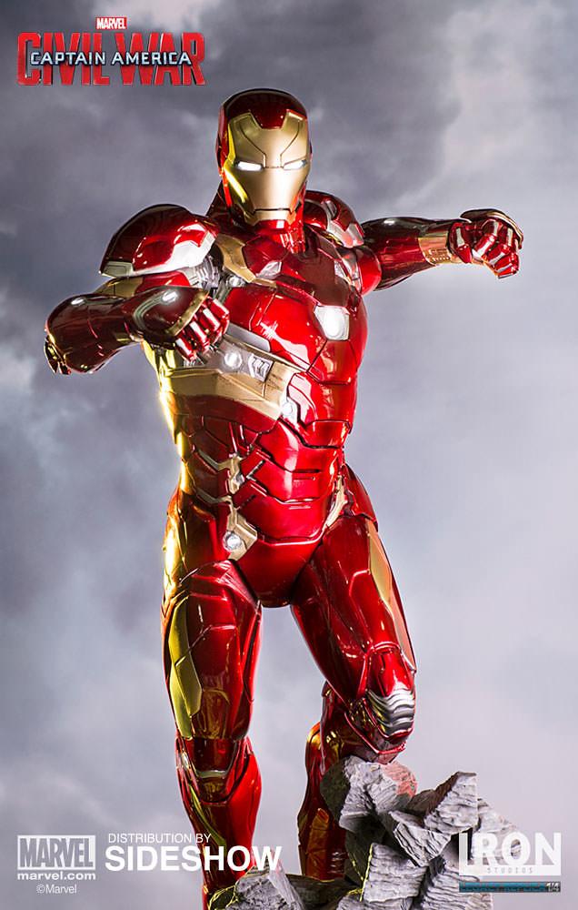 Iron Studios 美國隊長3:英雄內戰【鋼鐵人馬克46】Iron Man Mark XLVI 1/4 比例全身場景雕像