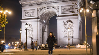 Image of Arc de Triomphe near Paris 08. france paris shaherald travel holiday vacation honeymoon trip globetrotter explore europe architecture building evening frenchrenaissance neoclassical arcdetriomphe arch landmark monument