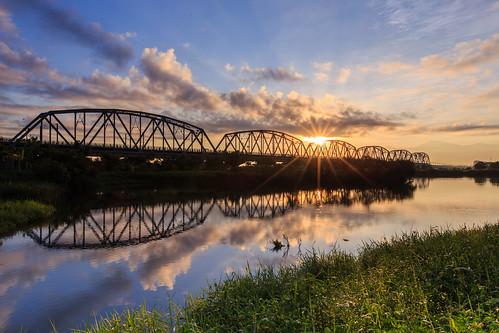 sunrise kaohsiung 6d 日出 倒影 星芒 舊鐵橋 ef1635mm 大樹區