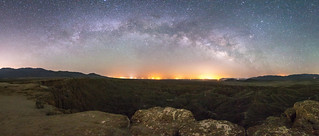 The Milky Way above Font's Point in Anza-Borrego Desert State Park