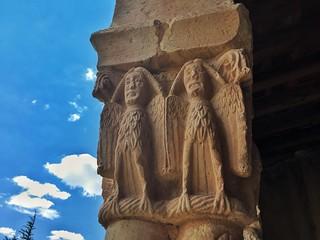 Capitel románico de la Ermita de Nuestra Señora de Las Vegas (Segovia)