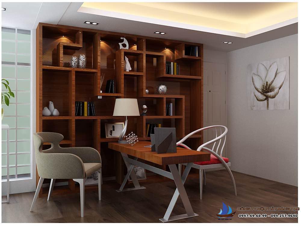 phòng đọc sách được thiết kế đầy cá tính