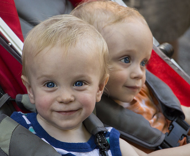 Ezra and Elijah at the Zoo