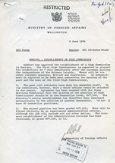 Solomon Islands Indpendence discussion June 1978