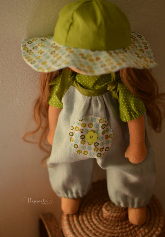 Blue green outfit for a 17/18inch doll