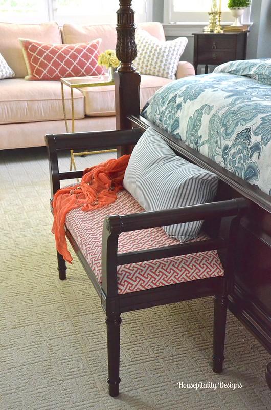 Master Bedroom Bench - Housepitality Designs