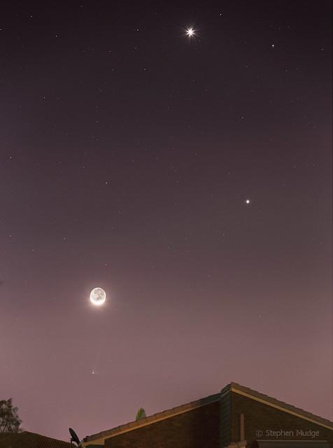 PANSTARRS Moon Jupiter Venus v1