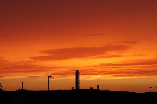 uk sunset england hertfordshire royston canoneos1100d