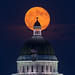 Blue Moon over State Capitol by davidyuweb