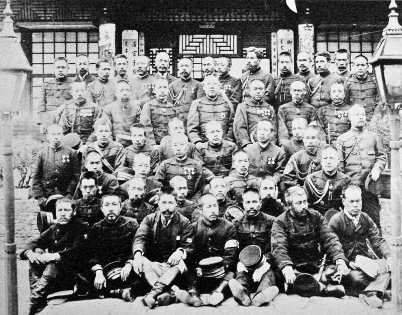 Japanese soldiers of the Sino Japanese War