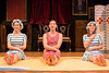 Sophie Evans, Adrian Grove and Rebecca Trehearn in A Little of What You Fancy. Credit Paul Blakemore