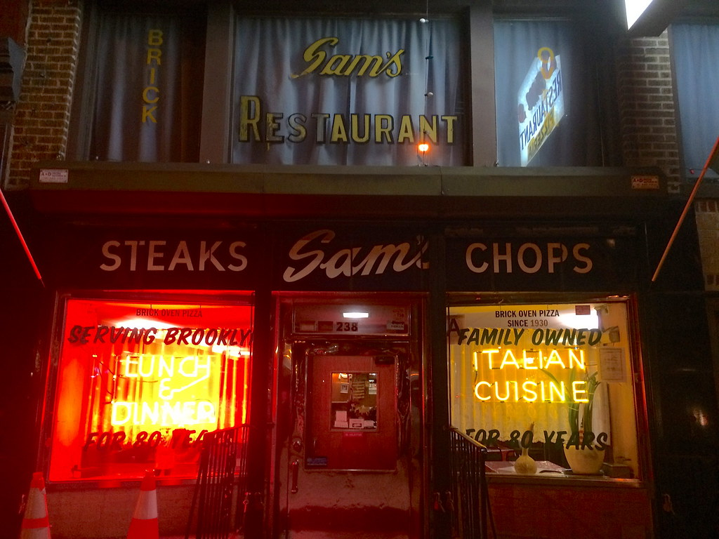 Sam's Restaurant Pizza Cobble Hill Brooklyn NY New York Retro Roadmap