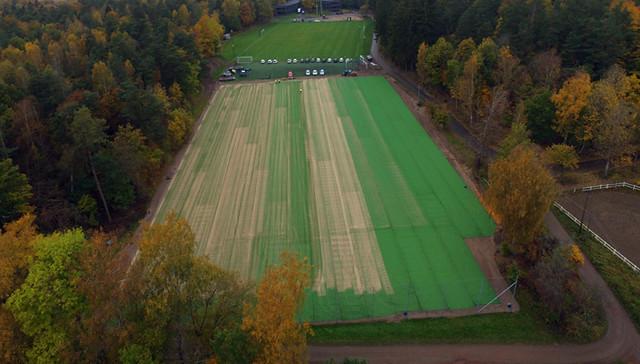 Hybridgräs installation på Kamratgården, IFK Göteborg - okt 2016