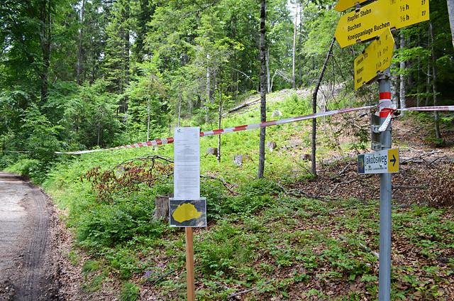 No go zone, near Mosern, Austria