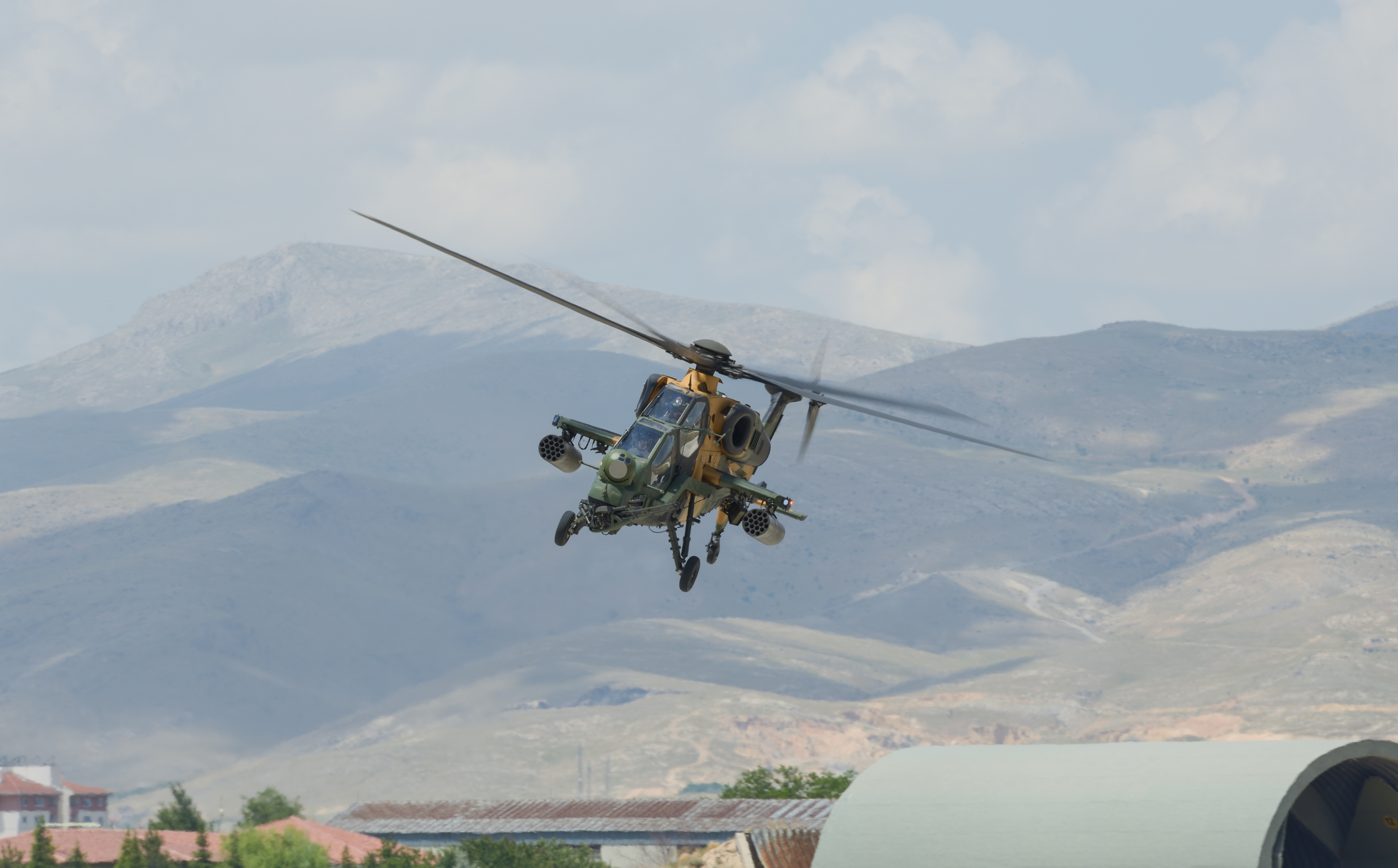 Turkish T129 attack helicopter, based on the Italian A129 Mangusta