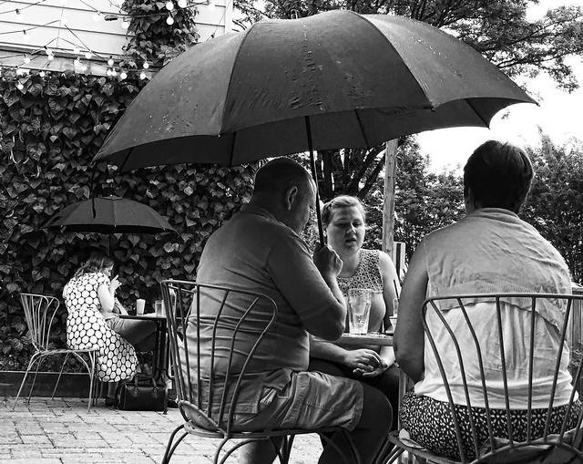 Front Porch in the rain, Del Ray, Alexandria