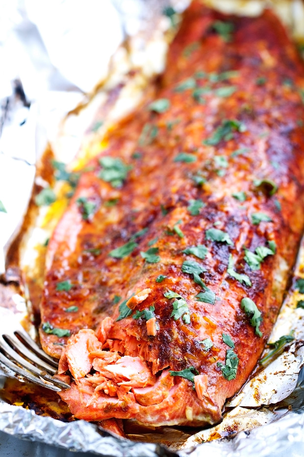Chili Lime Baked Salmon In Foil Recipe Little Spice Jar