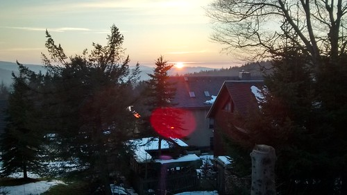 The sunset in Oberpfannenstiel