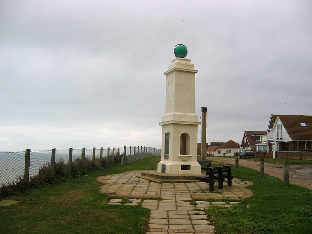 Greenwich Meridian marker at Peacehaven