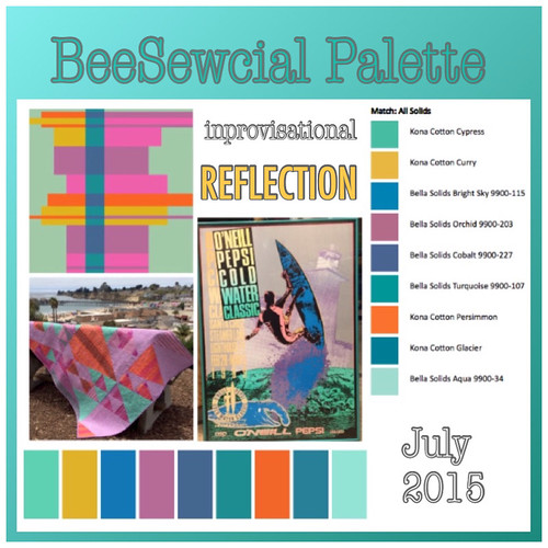 "BeeSewcial improvisational ""Reflection"" July (ME!)"