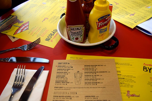 Menus at Byron Burger, Canterbury