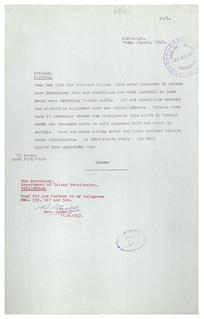 Letter from Thor Heyerdahl (1947)