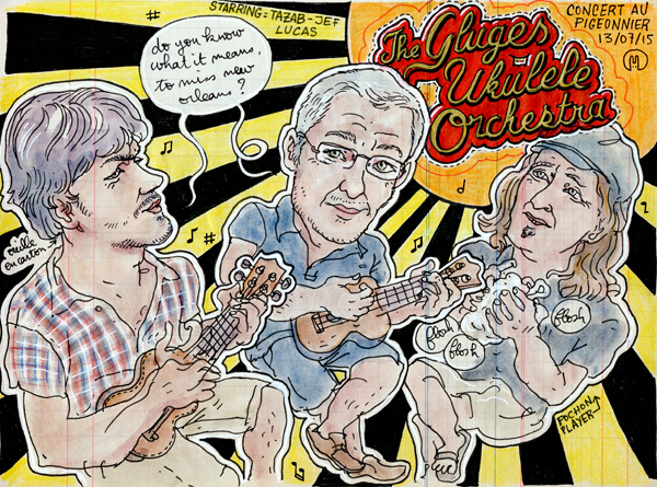 """the gluges ukulele orchestra"""