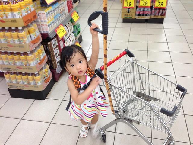 到了陽明山最愛的還是推頂好的兒童推車!