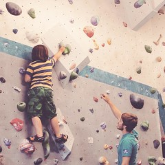 Climbing is our new thing. Especially when no other kids turn up to the junior session so we get a private lesson.