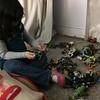 The girl has discovered the ninja turtles...