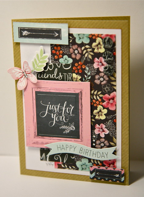 Just for you birthay chalkboard card by StickerKitten