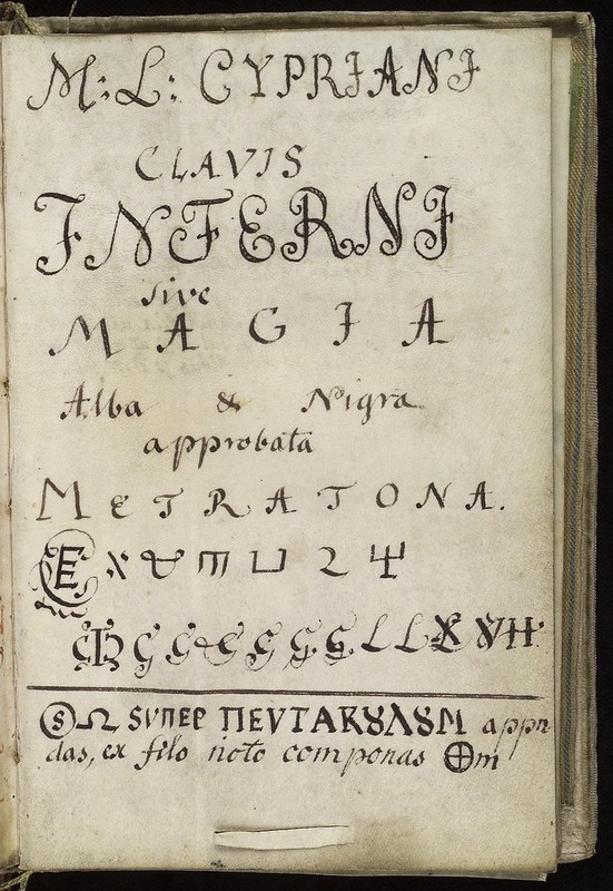 L0036622 Title page, Cyprianus, 18th C