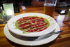 Summer is not over yet! - Gazpacho w/ Tomato, Garlic Scapes, and Smoked Ramps - morgantown Brewing Company