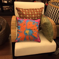 art, pattern, textile, furniture, brown, pillow, throw pillow, chair, cushion,