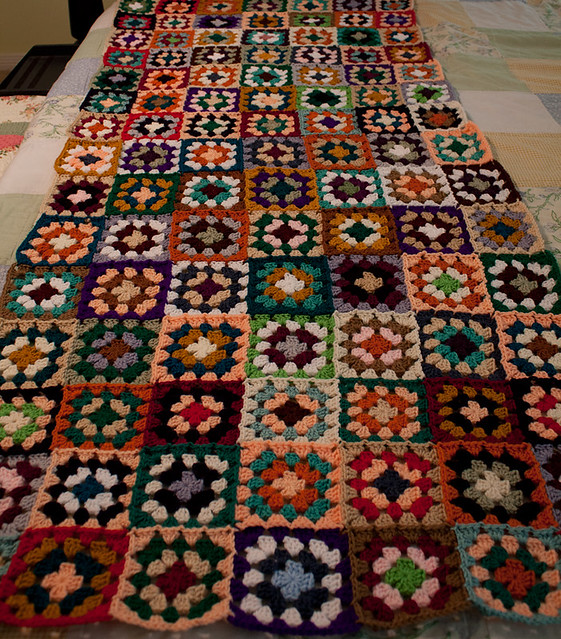 Old-Fashioned Granny Square Afghan